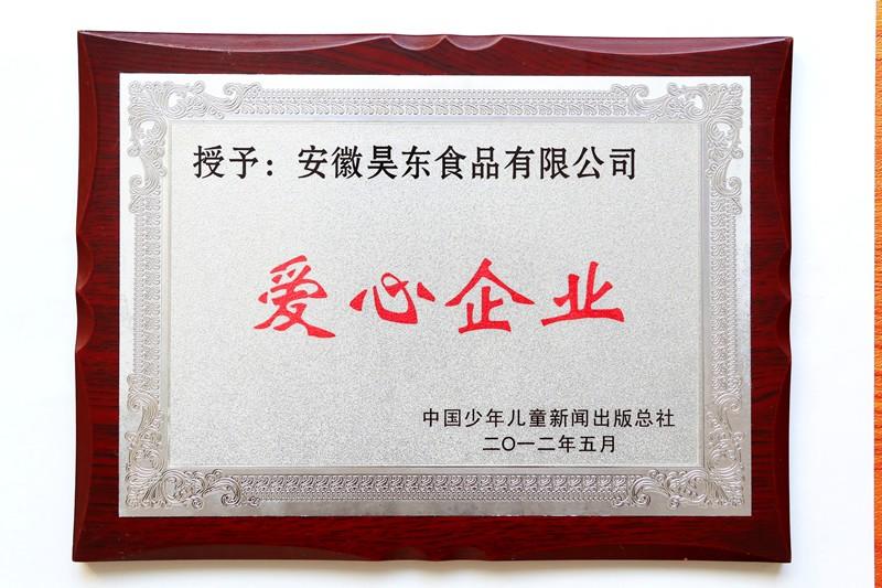 中国少年儿童新闻出版总社授予爱心企业