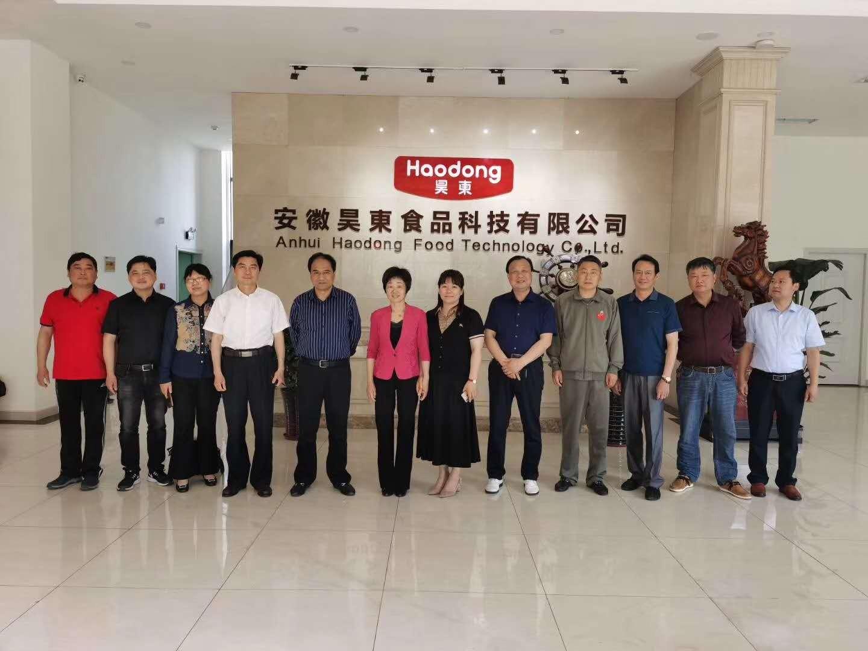 欢迎安徽省商务厅副厅长黄英一行莅临昊东食品指导调